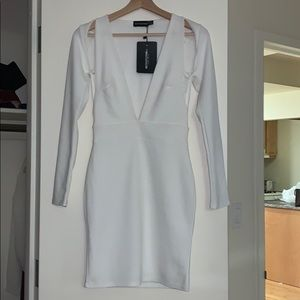 White body con dress